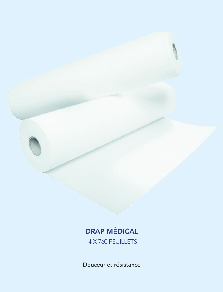 Drap medical | 4 x 760 Feuillets
